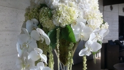 Wedding Floral Arrangement Martini Glass Port Phillip Estate